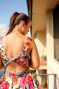 Forever New backless floral dress