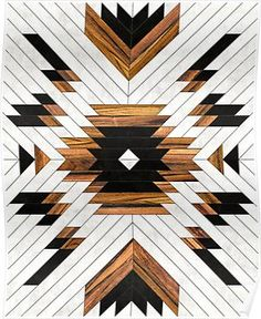 Urban Tribal Pattern - Aztec - Concrete And Wood Wall Hanging Tapestry by Zoltan Ratko - Medium: x Wood Canvas, Canvas Artwork, Wood Art, Canvas Prints, Art Prints, Tribal Prints, Aztec Art, Tapestry Wall Hanging, Wall Hangings