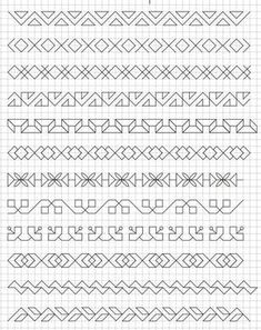 45 Super Cool Doodle Ideas Get your doodle inspiration idea here with 45 cool and easy doodle ideas for sketchbooks, bullet journals, and definitely when you're taking notes. Blackwork Patterns, Doodle Patterns, Zentangle Patterns, Cross Stitch Patterns, Doodle Designs, Graph Paper Drawings, Graph Paper Art, Doodle Drawings, Blackwork Cross Stitch