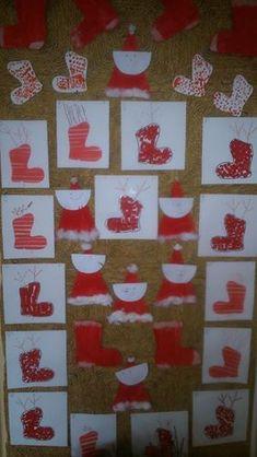Techno, Advent Calendar, Santa, Christmas Tree, Holiday Decor, Home Decor, Weihnachten, Teal Christmas Tree, Homemade Home Decor