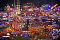 The famous Goose Fair in Nottingham which dates back more than 700 years - by far the biggest fair I've ever seen! Shared by Motorcycle Fairings - Motocc Nottingham Goose Fair, Nottingham City, Carnival Photography, Carnival Inspiration, Fair Rides, Carnival Rides, Fun Fair, Summer Aesthetic, Roller Coaster
