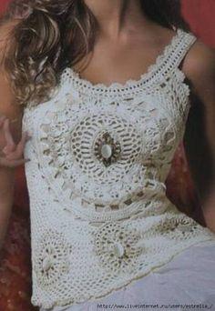 Delicadezas en crochet Gabriela: Remeras