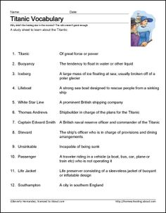 titanic vocabulary - Google Search