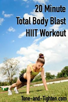 20 Minute Total Body Burn HIIT Workout on Tone-and-Tighten.com - a great at-home workout!