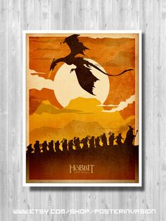 The Lord of the Rings poster, The Hobbit, Minimalist poster, Movie poster, Wall art, art print, dragon, The hobbit Calendar, Hobbit retro, door PosterInvasion op Etsy https://www.etsy.com/nl/listing/201330054/the-lord-of-the-rings-poster-the-hobbit