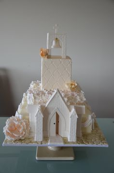 "The most creative and endearing cake I've ever seen. ""We're going to the church, and we're going to get married."" =D"