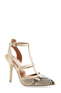 Love these pointed toe Steve Madden t-strap pumps.