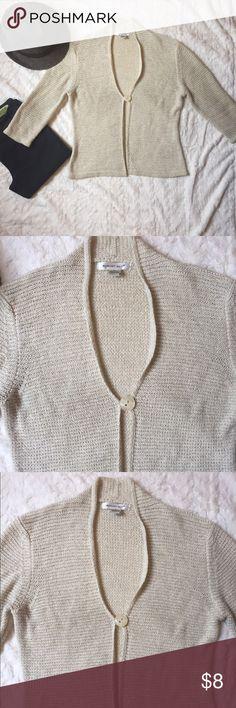 August Silk cream color single button cardigan M August Silk cream color single button cardigan size M august silk Sweaters Cardigans