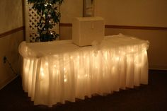 Lighted Display Table