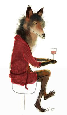 Waiting~ By Wiebke Rauers Illustration Wolf Illustration, Character Illustration, Animal Sketches, Animal Drawings, Artsy Photos, In Vino Veritas, Creature Feature, Cool Pets, Whimsical Art