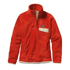 Patagonia Women\'s Re-Tool Snap-T\u00AE Fleece Pullover - Eclectic Orange - Red Delicious X-Dye ERDX