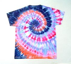 Large Tie Dye Shirt Snow Dye Spiral by TieDyeBySandy on Etsy, $17.99