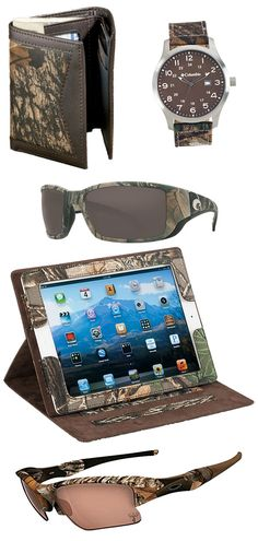 Check out these camo accessories for him! (Just in time for Father's Day.)