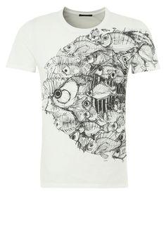 Sisley Print T-shirt - blanc - Zalando.co.uk My T Shirt, Tee Shirts, Moda Converse, Geile T-shirts, Use E Abuse, Order T Shirts, Great T Shirts, Personalized T Shirts, Casual Elegance