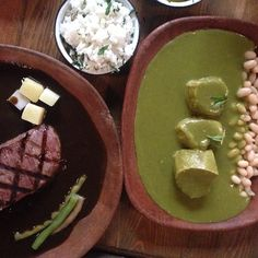 DF: Yuban: precise, perfect Oaxacan flavors: pork in Oax green mole, Mex Wagyu steak w dark chichilo mole