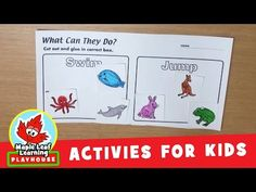 What Can They Do? Animal Activity for Kids   Maple Leaf Learning Playhouse - YouTube