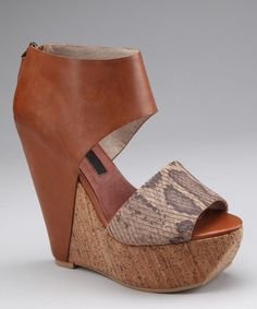 Cognac Bammba Platform Wedge - Steven By Steve Madden...my birthday is soon :)