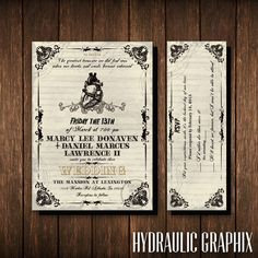 Friday the 13th Wedding Invitation and RSVP Ticket, Gothic Wedding Invite, Wedding Invitation with Anatomical Heart, Horror Theme Invite by HydraulicGraphix on Etsy https://www.etsy.com/listing/223709766/friday-the-13th-wedding-invitation-and