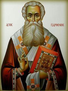 Parthenios of Lampsakos Byzantine Art, Byzantine Icons, Christian World, Christian Art, Religious Icons, Religious Art, Luke The Evangelist, Art Carved, Orthodox Icons