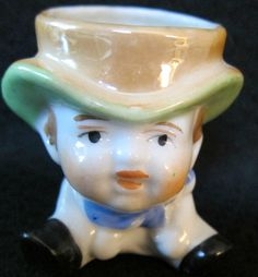 """Vintage Luster """"Character"""" Egg Cup"""
