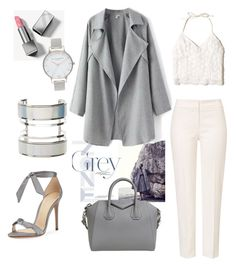 """""""gray & white"""" by aura-helena ❤ liked on Polyvore featuring ESCADA, Hollister Co., Alexandre Birman, Burberry, Olivia Burton, Charlotte Russe and Givenchy"""