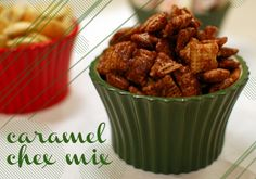 here's a sweet chex mix recipe that's not puppy chow: make at your own risk - it's so addictive!