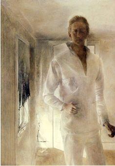 Andrew Wyeth (1917-2009) - self-portrait, 1949