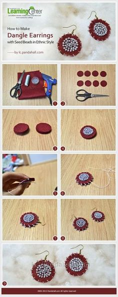 Jewelry Making Tutorial--How to Make Dangle Earrings with Seed Beads in Ethnic Style | PandaHall Beads Jewelry Blog