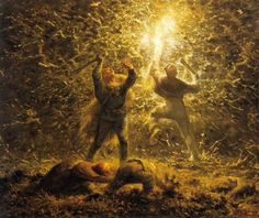 Millet, Jean-François II - Hunting Birds at Night - Night in paintings (Western art) - Wikipedia, the free encyclopedia Fine Art, Millet, Millet Paintings, Western Art, Barbizon School, Philadelphia Museum Of Art, Jean Francois Millet, Art Google, Realism Art