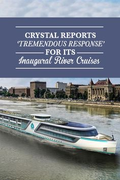 "Crystal's new river cruises are selling well. Within hours of unveiling fares in November, the company reported a ""tremendous response"" in bookings for its five luxury vessels, the first of which is set to embark in July 2016 and the other four in 2017. Click to read more!"