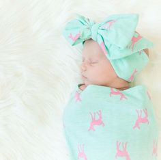 A personal favorite from my Etsy shop https://www.etsy.com/ca/listing/290513327/newborn-photo-prop-baby-girl-headwrap