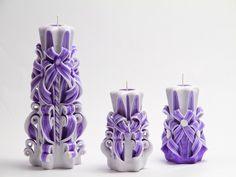 Резные свечи : Гжель сиреневая