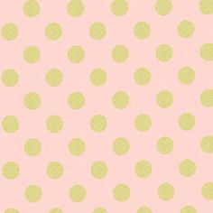 Glitz - Quarter Dot Pearlized Gold Pink - Polka Dot - Michael Miller - Quilting Cotton Fabric - Sewing Fabric - One Yard Tissu Michael Miller, Michael Miller Fabric, Cotton Quilting Fabric, Cotton Quilts, Pink Crib, Baby Crib, Hand Knitting Yarn, Miller Homes, Blush And Gold