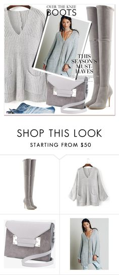 """Over-The-Knee Boots"" by allanaaa11 ❤ liked on Polyvore featuring Balmain, Sophie Hulme and H&M"