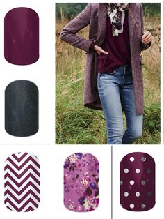 Fall 2014 Jamberry Line... Purple and Gray!! Click the image to shop them all. http://jamwithcat.jamberrynails.net/shop