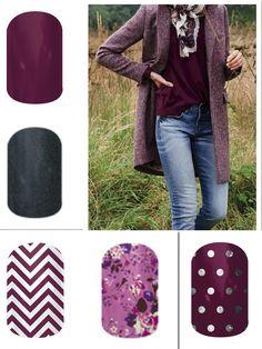LOVE Purple!! Fall 2014 Jamberry Line... Purple and Gray!! www.jamsbyambernicole.jamberrynails.net