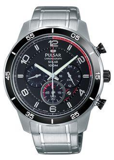 8b52b8ac7546 Pulsar Mens Chronograph Solar Quartz Stainless Steel Dress Watch Model   PX5055 -- Check out · Casio EdificeReloj ...