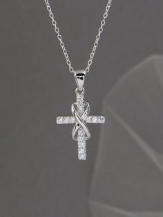 Hey, I found this really awesome Etsy listing at https://www.etsy.com/listing/171953697/infinity-cross-necklace-bridal-jewelry