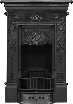 Crocus Cast Iron Art Nouveau Style Fireplace by chris Bedroom Fireplace, Cast Iron Fireplace, Art Nouveau Bedroom, Iron, Fireplace Accessories, Gothic House, Fireplace Decor, Fireplace, Edwardian Fireplace