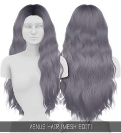 Sims 4 CC's - The Best: Venus Hair by simpliciaty-cc