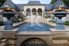 Luxury Home Exterior Design Ferris with Fountains on the Swimming Pool Rafauli | Architecture by Ferris Rafauli
