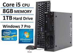 Introducing 2016 Lenovo ThinkCentre M81 High Performance Small Factor Desktop Computer Intel Core i5 Processor 31GHz 8GB RAM 1TB HDD DVD RW Windows 7 Professional Certified Refurbished. Great product and follow us for more updates!