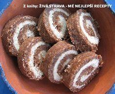 Vitariánská kokosová roláda podle Věry Talandové (raw food) :: Syrová strava Raw Cake, Healthy Cake, Raw Vegan, Raw Food Recipes, Doughnut, Muffin, Paleo, Food And Drink, Sweets