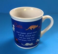 Cat Coffee Mug Cup Cats Tabbies Pets Animals Fur Yarn Verse Hallmark Vintage #Hallmark