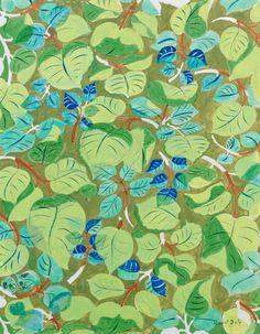 blastedheath: Raoul Dufy (French, 1877-1953), Feuillages bleus et verts [Blue and green foliage]. Gouache on paper, 41 x 32 cm.