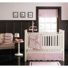MiGi - Blossom Collection 3-Piece Crib Bedding Set- Okay I may have changed my mind....