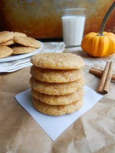 Pumpkin SnickerdoodlesYield: 2 and 1/2 dozen cookiesIngredients:Directions:Line two cookie sheets with parchment paper and set aside.In a medium sized bowl, whisk together flour, cinnamon, nutmeg, ginger, cream of tartar, baking soda, and salt. Set aside.In another bowl, using an electric hand mixer, beat butter for 30 seconds until creamy. Add sugars and beat until light and fluffy. Add pumpkin puree, milk, and vanilla and beat until well-combined...