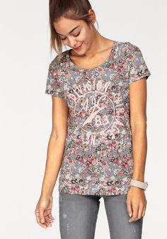e857dc1632351 08941101234906 Kaufen bei OTTO   Damen AJC T-Shirt, Blumen, Frontpirnt grau    08941101234906