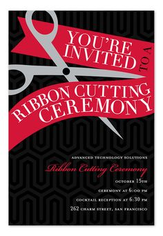 Open house invitation business professional for the ribbon cutting corporate invitationletter stopboris Images