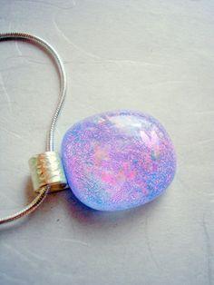 Fused Glass Purple Pendent
